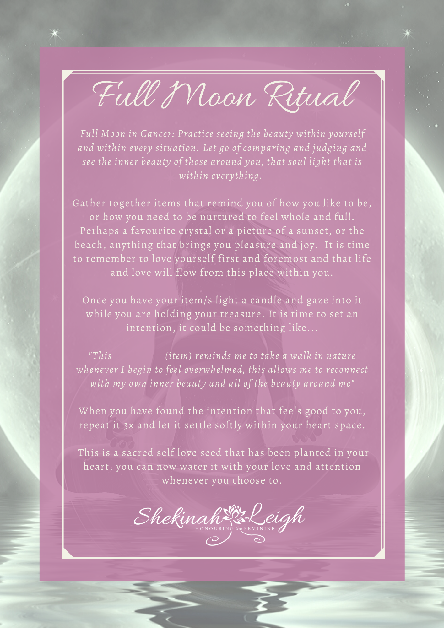 Full Moon in Cancer Ritual