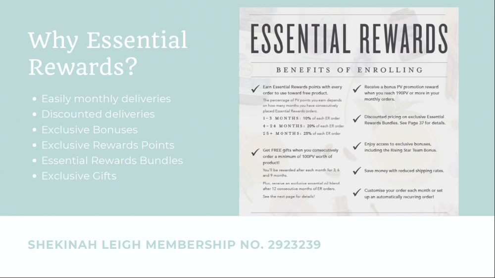 Essential Rewards with Young Living