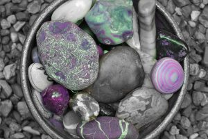 stone bowl purple